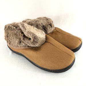 Isotoner Womens Clog Slippers Faux Suede US 8.5-9